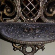 Antigüedades: PRECIOSA REPISA DE METAL DESMONTABLE. Lote 48301699