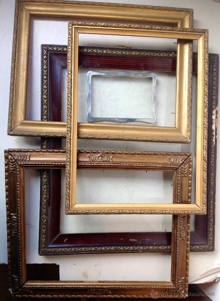 gran lote de antiguos marcos de madera diferent - Comprar Marcos ...
