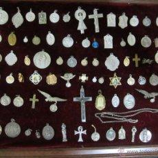 Antigüedades: GRAN LOTE DE MEDALLAS RELIGIOSAS ANTIGUAS. Lote 48305058