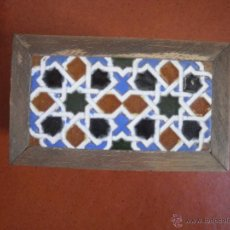 Antigüedades: CAJITA CON AZULEJO.. Lote 48314590