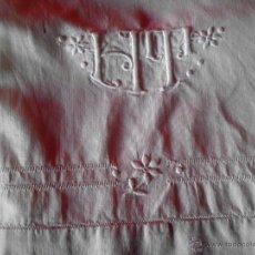 Antigüedades: ANTIGUA SABANA BORDADA. Lote 48325699