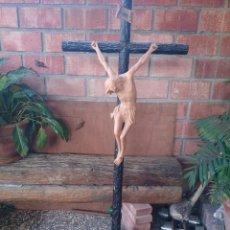Antigüedades: CRISTO CRUCIFICADO GRAN TAMAÑO LEER. Lote 48332916