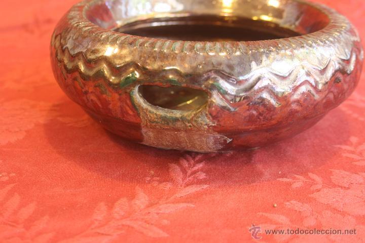 Antigüedades: ESCUPIDERA ANTIGUA. MENSAQUE RODRIGUEZ .TRIANA - Foto 6 - 48333275