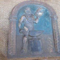 Antigüedades: ANTIGUA METOPA TALLA EN MADERA 18CM ALTO - RELIEVE HERRERO Y CONSTRUCCION NAVAL. Lote 48334383