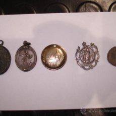 Antigüedades: LOTE DE 5 MEDALLAS RELIGIOSAS ANTIGUAS. Lote 48349968