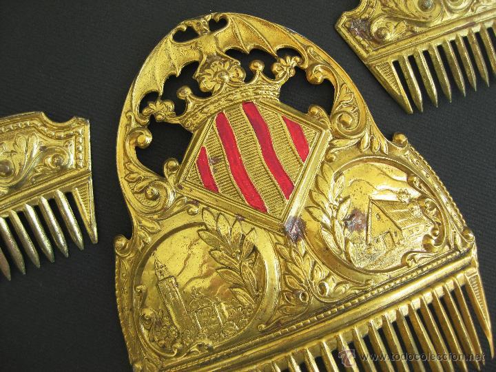 Antigüedades: FANTASTICA PEINETAS ANTIGUA FALLERA CON BARRACA Y MIGUELETE AÑOS 40 . SALUDES VALENCIA - Foto 2 - 48351598
