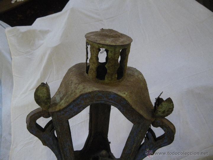 Antigüedades: ANTIGUO FAROL DE IGLESIA O PROCESION , MUY BONITO Y RARO .IDEAL RESTAURADORES - Foto 3 - 48361392