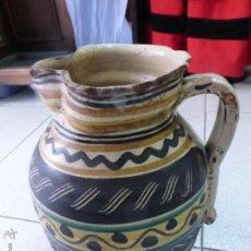 Antigüedades: ESPECTACULAR ANTIGUA JARRA DE PELLIZCO S. XVIII ORIGINAL CERÁMICA PUENTE DEL ARZOBISPO. GRAN TAMAÑO. Lote 48372999