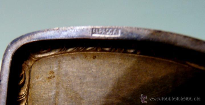 Antigüedades: ANTIGUA PITILLERA DE MUJER EN ALPACA PLATEADA CON FECHA GRAVADA-16/10/1927 - Foto 8 - 48376209