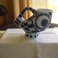 Antigüedades: FIGURA SARGADELOS JARRA BUHO . Lote 48380540