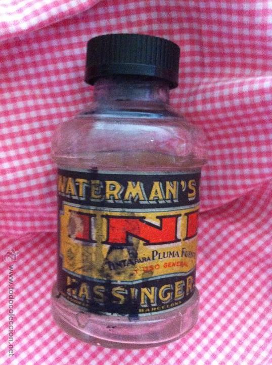 ANTIGUO FRASCO DE TINTA CHINA DE WATERMAN'S IDEAL (Antigüedades - Cristal y Vidrio - Farmacia )