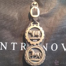 Antigüedades: ANTIGUOS ADORNOS EN BRONCE, CREEMOS QUE DE CABALLERIAS.... Lote 48391181