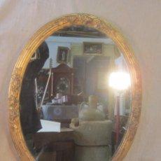 Antigüedades: ESPEJO EN MADERA CON PAN DE ORO. Lote 48411034