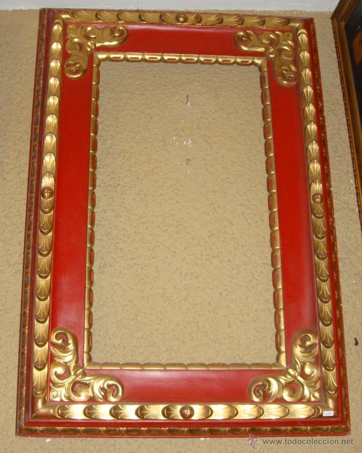 magnifico marco. s.xix. estuco rojo y pan de or - Comprar Marcos ...