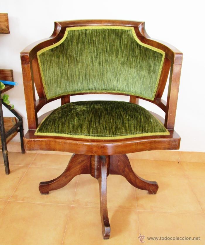 Gran silla sillon antigua escritorio tipo banqu comprar for Sillas tipo sillon