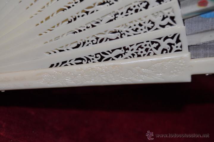 Antigüedades: ABANICO DE PRINCIPIOS DEL S. XX CON PAÍS PINTADO SOBRE TELA CON ESCENAS ORIENTALES - Foto 3 - 48421679