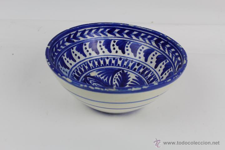PLATO DE CERAMICA PINTADA A MANO. PRINCIPIOS S.XX. (Antigüedades - Porcelanas y Cerámicas - Otras)