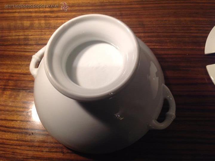 Antigüedades: sopera de loza blanca - Foto 6 - 48437064
