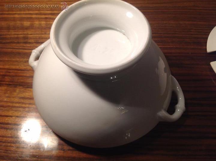 Antigüedades: sopera de loza blanca - Foto 10 - 48437064