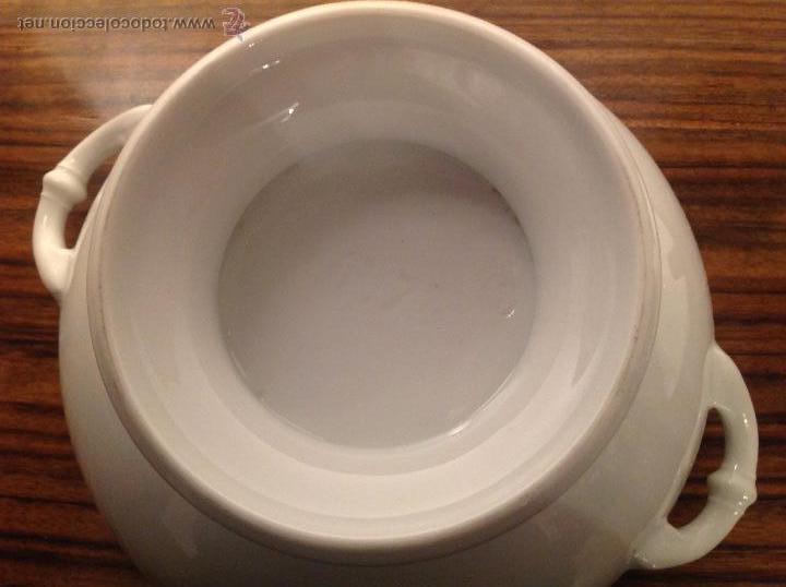Antigüedades: sopera de loza blanca - Foto 13 - 48437064