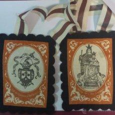 Antigüedades: ESCAPULARIO V.O.T. DEL CARMEN Y SANTA TERESA. Lote 100514920