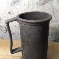Antigüedades: ANTIGUA JARRA DE CERVEZA DE ZINC. Lote 48445134