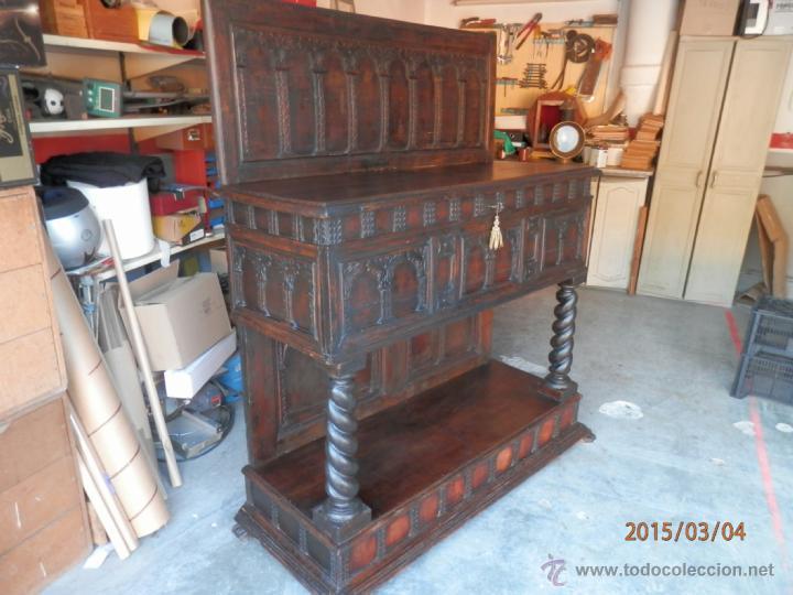 Antigüedades: arca escritorio siglo XVIII en nogal - Foto 4 - 48447143