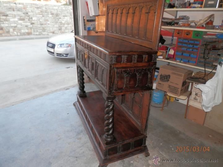 Antigüedades: arca escritorio siglo XVIII en nogal - Foto 5 - 48447143