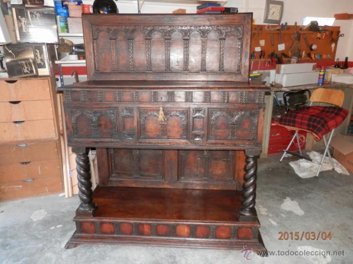 Antigüedades: arca escritorio siglo XVIII en nogal - Foto 6 - 48447143