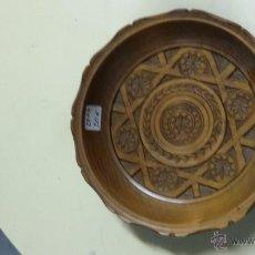 Antigüedades: ANTIGUO PLATO DE MADERA TALLADO. Lote 48457300