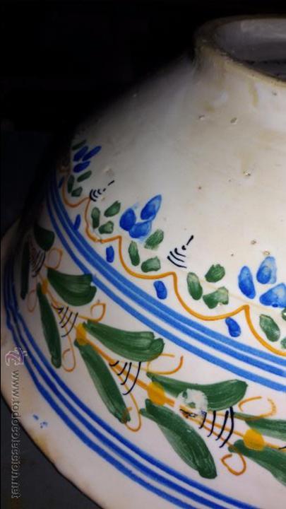 Antigüedades: CUENCO CERÁMICA ANTIGUA PUENTE DEL ARZOBISPO - Foto 6 - 48457821