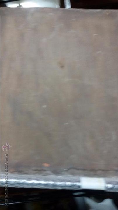 Antigüedades: VIRGEN EN VIEJO LIENZO PEGADO A TABLA - Foto 8 - 48472390