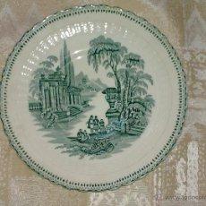 Antigüedades: VENDO PLATO DE LA CARTUJA PICKMAN, AÑOS 70, (MÁS INFORMACIÓN Y FOTOS EN INTERIOR).. Lote 48472976