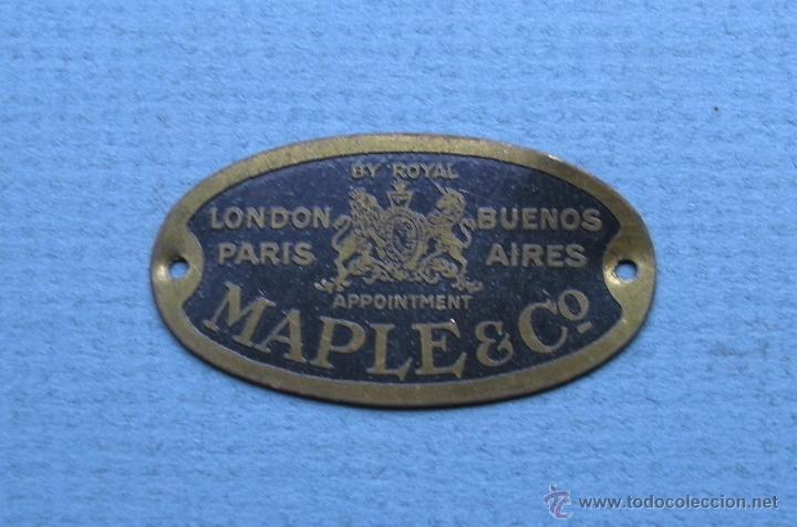 pequeña placa de maple & co, fabricantes de mue - Comprar ...