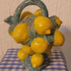 Antigüedades: BOTIJO DE CERAMICA, CON FORMA DE LIMONES. Lote 48486171