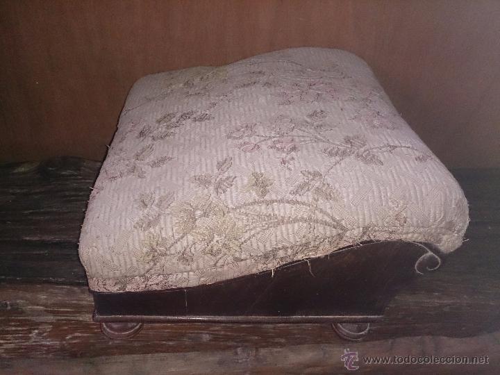 Antigüedades: reposapies antiguo leer - Foto 5 - 48488807