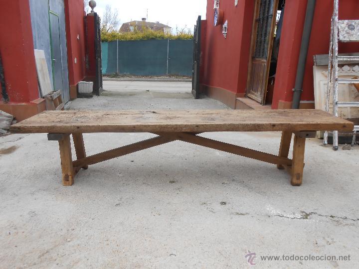 Antiguo banco de madera de pino macizo para mat comprar - Sillones antiguos restaurados ...
