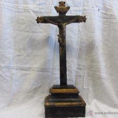 Antigüedades: CRISTO Y CRUCIFIJO DE TALLA, SIGLOS XVIII - XIX. Lote 48493819