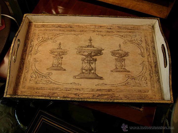 Antigüedades: DECORATIVAS BANDEJAS SON TRES DE DIFERENTES TAMAÑOS. Bandeja. - Foto 4 - 48499130