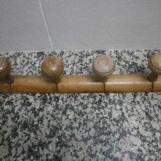 Antigüedades: PERCHA CUATRO BRAZOS DE MADERA. Lote 48507628