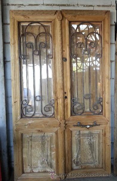 Puertas de entrada con cristal puerta de entrada abatible for Puertas grandes antiguas