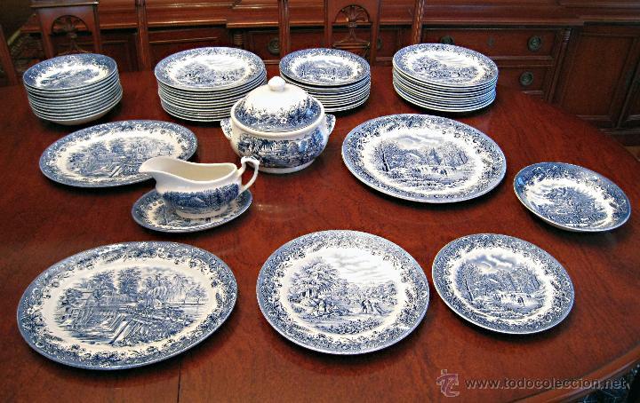 Vajilla porcelana inglesa 39 churchill 39 para 12 p comprar for Vajilla de porcelana inglesa