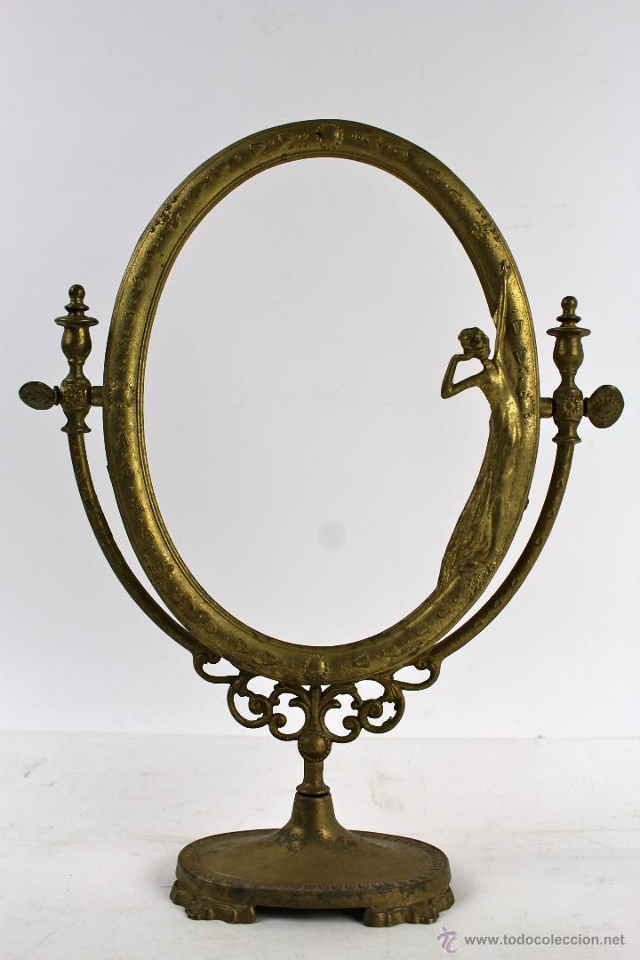 marco para espejo tocador en bronce trabajado finales del siglo xix
