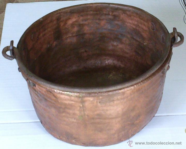 Antigüedades: MUY PEQUEÑO CALDERO MIDE DIAMETRO 21 CM ALTO 13 CM GASTOS ENVÍO CERTIFICADO INCLUIDOS EN PENINSULA - Foto 2 - 48521519