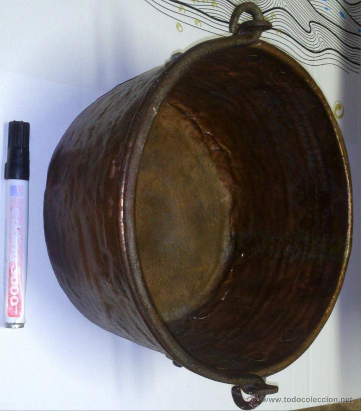 Antigüedades: MUY PEQUEÑO CALDERO MIDE DIAMETRO 21 CM ALTO 13 CM GASTOS ENVÍO CERTIFICADO INCLUIDOS EN PENINSULA - Foto 4 - 48521519