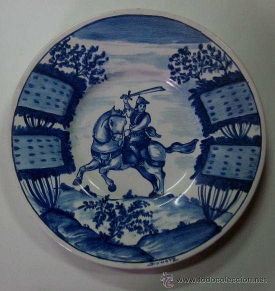 Antigüedades: DOS PLATOS DE CERAMICA - FIRMADOS DUARTE - Foto 2 - 48525688