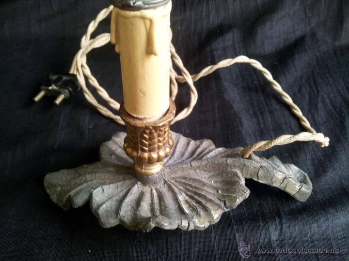 Antigüedades: PORTALÁMPARA ANTIGUO DE CALAMINA PARA RETABLO O IMAGEN. - Foto 2 - 48526814