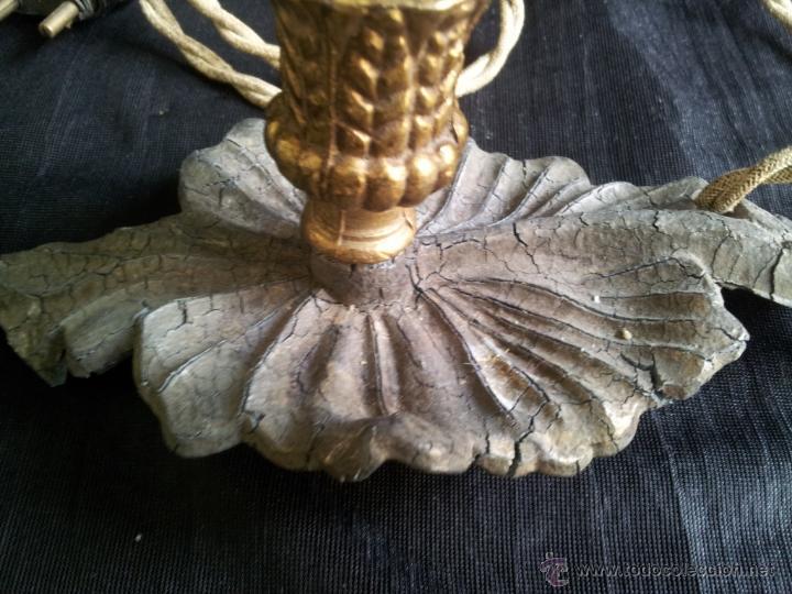 Antigüedades: PORTALÁMPARA ANTIGUO DE CALAMINA PARA RETABLO O IMAGEN. - Foto 4 - 48526814