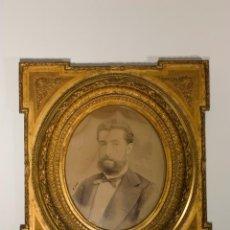 Antigüedades: PAREJA DE MARCOS PAN DE ORO, CON FOTOGRAFÍAS S.XIX-XX. Lote 48532388