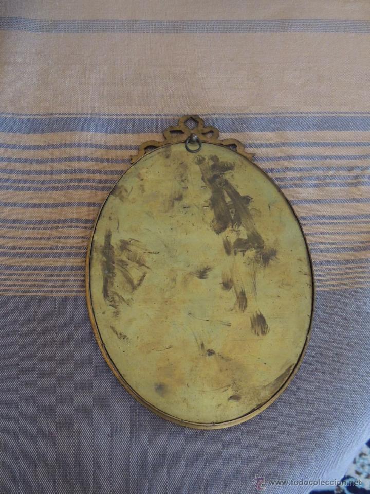 Antigüedades: ANTIGUOS DIBUJOS DE VESTIDOS EN MARCOS ANTIGUOS DE BRONCE - Foto 10 - 48537761
